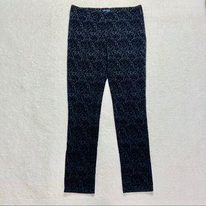 NYDJ 8 Brocade Black Leggings Pants Textured